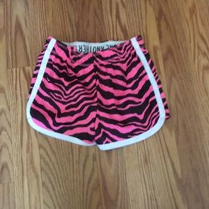 Justice rollover mesh shorts size 8